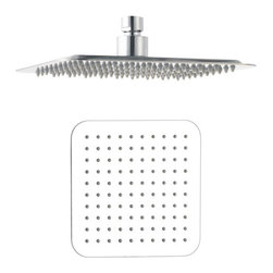 "Aqua - Ulta Thin 8"" Shower Head Square - •Swivel function. •Ceiling mount. •1/2"" IPS connections. •Maximum water pressure of 80 psi."