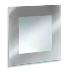 Blomus - MURO Square Mirror - The MURO Square Mirror reflects a classic elegance in its sleek, modern design. Constructed with a stainless steel frame and brushed for a matte finish, this essential piece lends a touch of sophistication to your home or office.