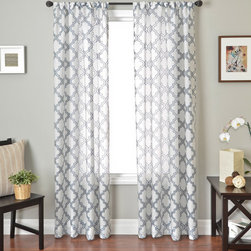 Blindsgalore - Blindsgalore Signature Drapery Panel: Quatrefoil Sheer - With just enough color to accentuate your d�cor, Quatrefoil sheer panels will softly filter light and look beautiful alone or paired with a blind or shade.