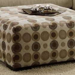 Chelsea Home - 38 in. Cocktail Ottoman - Medium seating comfort. Created with sinuous springs to provide no sag seating. 1.8 dacron wrapped foam cores with outside padding on arms and back for added comfort. Blast sand covers. Fabric content: 65% polyester and 35% rayon. Nailed, stapled and corner blocked frame. Frame provide strength and durability. Made from solid hardwoods and plywood. Made in USA. No assembly required. 38 in. L x 38 in. W x 18 in. H (50 lbs.)