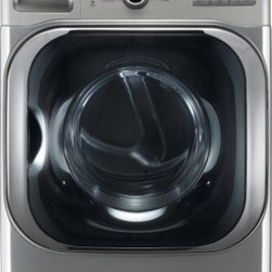 """LG - DLGX8001V SteamDryer Series 9.0 cu. ft. Mega Capacity 29"""" Wide Front Load Gas St - The LG DLGX8001 90 Cu Ft Gas Dryer with steam performs big enough for your most ambitious loads Smart enough to make sure everything dries perfectly with 14 drying programs including Steam Fresh Steam Sanitary Wool Speed Dry Air Dry and Super Dry Ste..."""