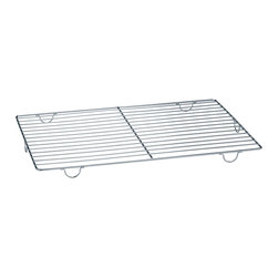 Paderno World Cuisine - Stainless Steel Cooling Rack With Feet - This 23 5/8 long by 15 3/4 wide by 1 high stainless-steel cooling rack with feet quickly cools cookies, pastries and breads.