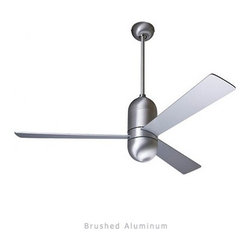 "Modern Fan - Modern Fan Cirrus ceiling fan - The Cirrus ceiling fan was designed by Ron Rezek for The Modern Fan Co. The Cirrus fan features a simple, vertical orientation appropriate to contemporary architecture. A finite design, it's perfect for lofts, stores and other high-ceiling applications. Direct and ambient lighting options are available. The Cirrus fan is available with 36"", 42"", 52"" blade spans.   Product Details:   The Cirrus ceiling fan was designed by Ron Rezek for The Modern Fan Co. The Cirrus fan features a simple, vertical orientation appropriate to contemporary architecture. A finite design, it's perfect for lofts, stores and other high-ceiling applications. Direct and ambient lighting options are available. The Cirrus fan is available with 36"", 42"", 52"" blade spans.                                      Manufacturer:                                      The Modern Fan Company                                                     Designer:                                     Ron Rezek                                                     Made in:                                     USA                                                     Dimensions:                                      Height: 17"" (43.2  cm) X Blade Span: 36"" (91.4 cm), 42"" (106.7 cm) or 52"" (132.1 cm)                                                     Light Bulb:                                     1 X 75W Halogen or 1 X 26W Energy Saving CFL or 1 X 75W Halogen Spot"