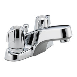 Delta Two Handle Lavatory Faucet - P246LF - Sensible styling that complements any home.