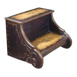 Butler Furniture - Step Stool - Selected solid woods and choice cherry veneers. Cherry veneer top, step and side panels.