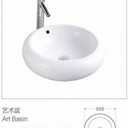 Traditional white ceramic wash basin - Made in Casa sanitary ware manufacture