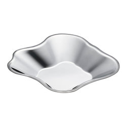 Iittala - Aalto Stainless Steel Bowl - Large - Iittala - Alvar Aalto famously never dictated how his iconic glass vases should be used.