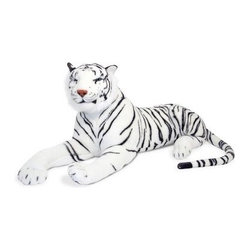 Melissa and Doug White Tiger Plush - From his striped tail to the pads on his front paws, the Melissa and Doug White Tiger Plush will delight with his lifelike details. Made of top-quality fabric.About Melissa & Doug ToysSince 1988, Melissa & Doug have grown into a beloved children's product company. They're known for their quality, educational toys and items, and have grown in double digits annually. The Melissa & Doug company has been named Vendor of the Year by such great retailers as FAO Schwarz, Toys R Us, and Learning Express, and their toys have been honored as Toys of the Year by Child Magazine, FamilyFun Magazine and Parenting Magazine. Melissa & Doug - caring, quality children's products.
