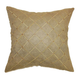 The Pillow Collection - Palmyra Quilted Pillow Brown - Make your home's interior exceptional and snazzy by propping up this throw pillow. This accent pillow features a quilted design in earthy brown hues. This square pillow is the easiest way to redecorate your living room or bedroom without spending a lot. This decor piece is a definite stand out. Made from 100% high-quality polyester fabric. Hidden zipper closure for easy cover removal.  Knife edge finish on all four sides.  Reversible pillow with the same fabric on the back side.  Spot cleaning suggested.