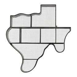 Metal Texas Map Wall Shelf - Black - *Metal Texas Map Wall Shelf Black
