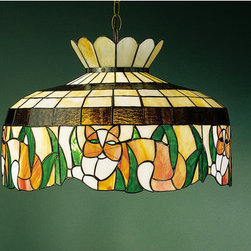 Meyda Tiffany - Meyda Tiffany 26578 Stained Glass / Tiffany Down Lighting Pendant Birds - Copperfoil CollectionCat Pendant1 Medium base bulb, 100w (max)Canopy & 3' of chain included
