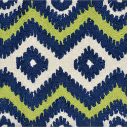 """The Rug Market - ZIGGY NAVY ,Area Rug ,size   22"""" x 34"""" - This contemporary rug is made of UV Poly and will surely add color to any space"""