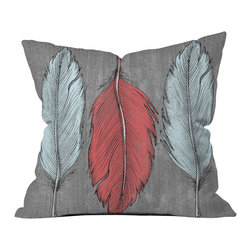 Wesley Bird Feathered Outdoor Throw Pillow - Do you hear that noise? It's your outdoor area begging for a facelift and what better way to turn up the chic than with our outdoor throw pillow collection? Made from water and mildew proof woven polyester, our indoor/outdoor throw pillow is the perfect way to add some vibrance and character to your boring outdoor furniture while giving the rain a run for its money.