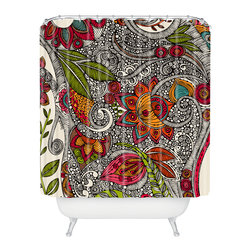 DENY Designs - Valentina Ramos Random Flowers Shower Curtain - Who says bathrooms can't be fun? To get the most bang for your buck, start with an artistic, inventive shower curtain. We've got endless options that will really make your bathroom pop. Heck, your guests may start spending a little extra time in there because of it!