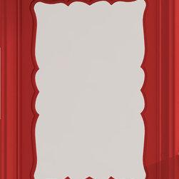 "Damasco 23"" 5/8 decorative mirror. Red. - Damasco 23"" 5/8 mirror. Red"