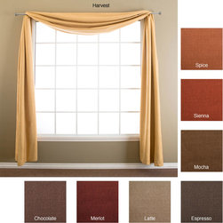 None - Trilogy 6-yard Window Scarf - Enhance your home decor with a trilogy six-yard scarfWindow treatment is machine washableWindow treatment features an elegant texture