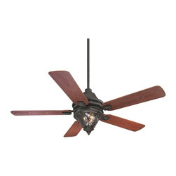 """Karyl Pierce Paxton - Karyl Pierce Paxton 52-525-5M-24 Monticello 52"""" Traditional Outdoor Ceiling Fan - Dazzling Clear Watered glass Makes this fan stand out &#8212: exterior available."""
