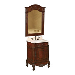 Belle Foret - Belle Foret 80071R Petite Single Basin Vanity in Dark Cherry - Belle Foret 80071R Petite Single Basin Vanity in Dark CherryDistinctively elegant faucets, sinks, bath furniture, and lighting graced by the rich patina of time, without the wait or expense. Discover the Belle Foret Collection - a voyage well worth taking.Featuring elegance, this beautiful petite single basin vanity will bring a classic style to your bath. Featuring a spacious storage compartment for your bath necessities. The beautiful dark cherry finish blends with any style or decor.Please see our Delivery Notes for Freight Shipments for products that are oversized and/or are too heavy to ship UPS ground.Belle Foret 80071R Petite Single Basin Vanity in Dark Cherry, Features:• Petite Single Basin Vanity