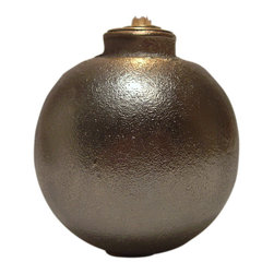 Silver Grenade Oil Lamp, Ball - The hand grenade oil lamps are made from actual US Army surplus grenades and gilded in silver. Each gets its distinct shape from the job it was designed for - fragmentation (pineapple), smoke/flash bombs (lemon), or high impact explosives (ball). This ice breaker will shatter even the thickest, weirdest ice.