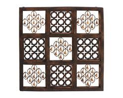 Benzara - Contemporary and Modern Style Wood Bell Wall Panel Home Decor - Description: