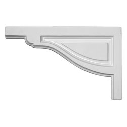 "Ekena Millwork - 11 3/4""W x 7 3/8""H x 1/2""D Large Traditional Stair Bracket, Left - With the beauty of original and historical styles, decorative stair brackets add the finishing touch to stair systems.  Manufactured from a high density urethane foam, they hold the same type of density and detail as traditional plaster stair bracket products.  They come factory primed and can be easily installed using standard finishing nails and/or polyurethane construction adhesive."
