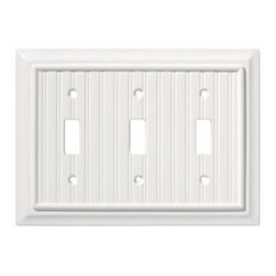 Liberty Hardware - Liberty Hardware 126360 Beadboard WP Collection 4.88 Inch Switch Plate - White - A simple change can make a huge impact on the look and feel of any room. Change out your old wall plates and give any room a brand new feel. Experience the look of a quality Liberty Hardware wall plate. Width - 4.88 Inch, Height - 6.8 Inch, Projection - 0.4 Inch, Finish - White, Weight - 0.35 Lbs.