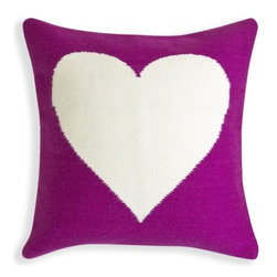 Reversible Purple and Natural Peace/Love Pop Throw Pillow - Looking for a simple but modern pillow? This graphic option by Jonathan Adler is perfect for you!