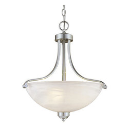 Minka Lavery - Minka Lavery ML 1426-PL 3 Light Indoor Bowl Shaped Pendant Paradox Ener - Three Light Indoor Bowl Shaped Pendant from the Paradox Energy Efficient CollectionFeatures: