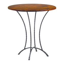 "Hudson 36"" Round Pub Table (Bar Height) by Charleston Forge - Dimensions:"