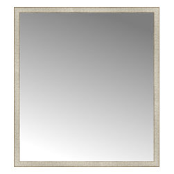 """Posters 2 Prints, LLC - 51"""" x 56"""" Libretto Antique Silver Custom Framed Mirror - 51"""" x 56"""" Custom Framed Mirror made by Posters 2 Prints. Standard glass with unrivaled selection of crafted mirror frames.  Protected with category II safety backing to keep glass fragments together should the mirror be accidentally broken.  Safe arrival guaranteed.  Made in the United States of America"""
