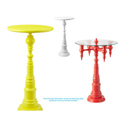 Acrylic Top Drink Drop Table - I'm pining for an orange Dunes and Duchess table. The marriage of whimsy and elegance is inimitably striking, don't you think?