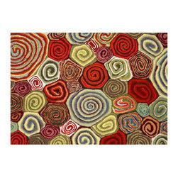 Liora Manne - Liora Manne Giant Swirls Fiesta Placemats, Set of 4 -