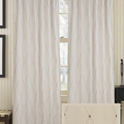 Home Decorators Collection - Harlequin Curtain Panel - Our linen and cotton Harlequin Curtain Panel features a neutral color and subtle pattern that easily complements various decor styles. Sometimes the simplest additions make the most impact. Made of a cotton and linen blend. Lined with cotton sateen for light filtration. One panel only.