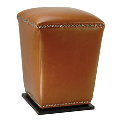 Safavieh Furniture - Mason 14 in. Bi-cast Leather Ottoman - Set of - Set of 2. Unique tapered design. Transitional footstool. Nailhead trim. Plinth base. Made from sturdy wood and bi-cast leather. No assembly required. 14 in. W x 14 in. D x 20 in. H (21 lbs.)
