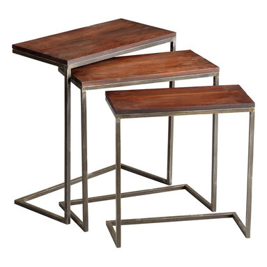 Cyan Design - Cyan Design Jules Nesting Table - Pack of 3 X-23250 - From the Jules Collection, this set of three Cyan Design nesting tables feature clean, modern lines throughout. The rectangular shape of each table has been created with a blend of rich Walnut tones and sleek, metallic Graphite finishing, resulting in a modern, versatile look.