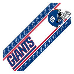 Sports Coverage - NFL New York Giants Blue Self-Stick Wall Border - Features: