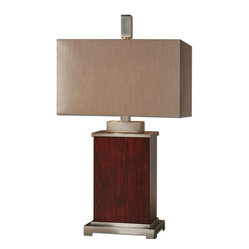 Brimley Modern Wood Table Lamp