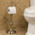 Ridge Shape Standing Tissue Holder - Form meets function with the Ridge Shape Standing Tissue Holder. The classic look and hook-style European dispenser will be the perfect complement to any bathroom's decor.