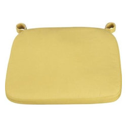 Delta Yellow Chair–Bar Stool Cushion - Our custom cushion in yellow features a contemporary box style.