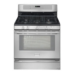 "Frigidaire  30"" Freestanding Gas Range with 5 Sealed Burners - Great looking range for the price point if you're looking for an affordable stainless steel, professional style range."