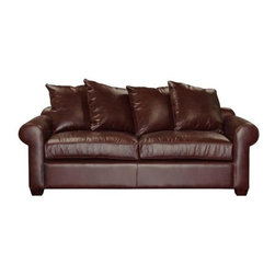 Jenny - Traditional Leather Sofas and Couches Collection - The Sofa Company - This timeless design mixes well with both traditional and modern furnishings. Jenny features clean lines, rolled arms and distinctive welting, making it a flexible style that will withstand the test of time.