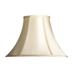 Cal Lighting - Bell Stretched Faux Silk Shade - Bell stretched faux silk shade. Top: 7 in.. Bottom: 17 in.. Side: 12 in.