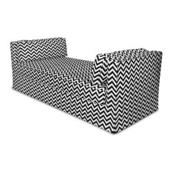 Jennifer Delonge-Henry Daybed - A daybed is always a perfect solution, especially when it's in a black and white chevron print.