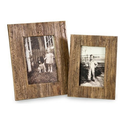 """IMAX CORPORATION - Havana 4 x 6 and 5 x 7 Frames - Set of 2 - The set of two Havana frames are a natural, attractive set of frames made from pressed water hyacinth. Set of 2 in various sizes measuring around 19.5""""L x 12""""W x 12.75""""H each. Shop home furnishings, decor, and accessories from Posh Urban Furnishings. Beautiful, stylish furniture and decor that will brighten your home instantly. Shop modern, traditional, vintage, and world designs."""