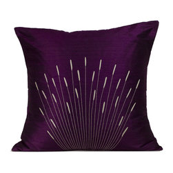 Jiti - Jiti Branches Silk Decorative Pillow - Add a touch of elegance to any seat in the home with this 100% silk pillow.
