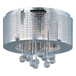 ET2 - ET2 E24380-91 Illusion 5-Bulb Flush Mount Indoor Ceiling Fixture - Metal Shade I - Product Features: