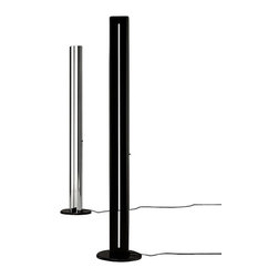 "Artemide - Artemide Megaron floor lamp - The Megaron floor lamp from Artemide has been designed by Gianfranco Frattini. This floor lamp is perfect for indirect halogen lighting. This floor standing luminaire has a two section body in extruded aluminum with a polished natural aluminum finish or glossy black finish. The Megaron also incorporates a high efficiency reflector in anodized aluminum. This floor lamp with its sleek design is the perfect accent to any contemporary environment. Slide dimmer control lever incorporated in body.  Product Details:   The Megaron floor lamp from Artemide has been designed by Gianfranco Frattini. This floor lamp is perfect for indirect halogen lighting. This floor standing luminaire has a two section body in extruded aluminum with a polished natural aluminum finish or glossy black finish. The Megaron also incorporates a high efficiency reflector in anodized aluminum. This floor lamp with its sleek design is the perfect accent to any contemporary environment. Slide dimmer control lever incorporated in body.  Details:     Manufacturer:  Artemide   Designer:  Gianfranco Frattini     Made in: Italy   Dimensions:   Height: 71.75"" (182 cm) X Width: 13.75"" (35 cm)      Light bulb:   1 X 300W R7s halogen (included)     Material:  aluminum, steel"