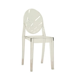 Wholesale Interiors - Baxton Studio Clear Acrylic Accent Chair - Se - Set of 2. Suitable for indoor and outdoor use. Made from Transparent Acrylics. Seat: 19 in. H. Overall: 15 in. W x 15.5 in. L x 36 in. H (20 lbs.)Made of transparent acrylics, the chair is sturdy and durable even as it displays a delicate, ethereal appearance. This Wholesale Interiors side chair is suitable for indoor and outdoor use.