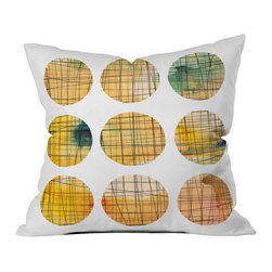 DENY Designs - Susanne Kasielke Squared Circle Outdoor Throw Pillow, 18x18x5 - Do you hear that noise? It's your outdoor area begging for a facelift and what better way to turn up the chic than with our outdoor throw pillow collection? Made from water and mildew proof woven polyester, our indoor/outdoor throw pillow is the perfect way to add some vibrance and character to your boring outdoor furniture while giving the rain a run for its money. Custom printed in the USA for every order.