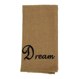 India Home Fashions - Burlap Dish Towel, Dream, Plain - Burlap Dishtowels provide the natural look of Burlap but feature the softer feel of cotton. These dishtowels measure 22 inches by 28 inches and can be both functional and decorative. Available in Burlap Check and Burlap Star patterns, these kitchen towels can be mixed and matched for a rustic look unique to your style.